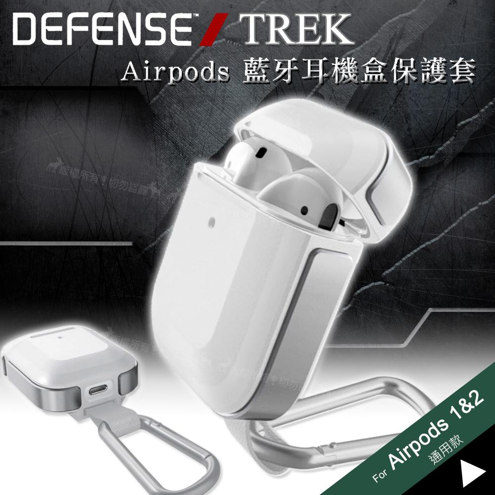 刀鋒TREK Apple Airpods 鋁合金雙料藍牙耳機盒保護套 1/2代通用款(極簡風暴白)