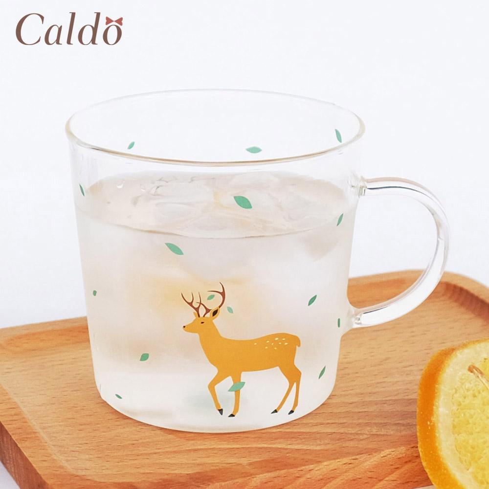【Caldo卡朵生活】童趣動物高硼矽耐熱透明馬克杯-鹿