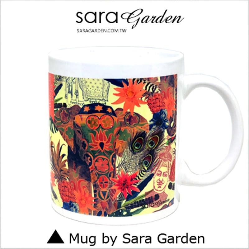【Sara Garden】客製化 陶瓷 馬克杯 咖啡杯 民族風大象