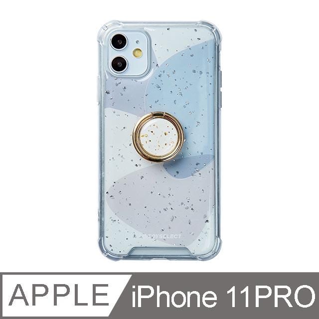 iPhone 11 Pro 5.8吋 風雅紫秘氣墊iPhone防摔殼 附贈同款電鍍指環支架