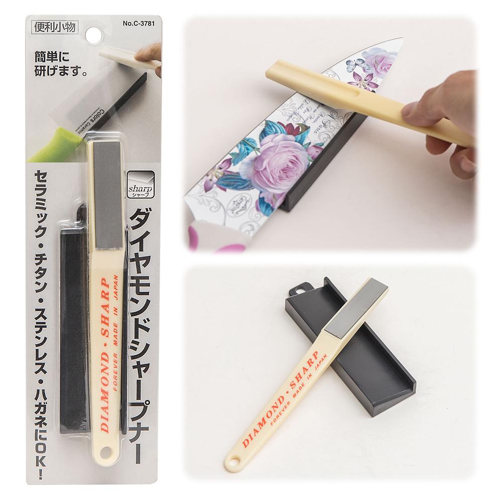 【日本PEARL金屬】鑽石磨刀器(陶瓷刀可用)-兩色隨機出貨