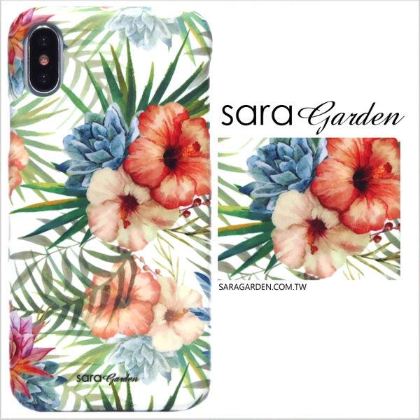 【Sara Garden】客製化 手機殼 SONY XA2 保護殼 硬殼 扶桑花碎花