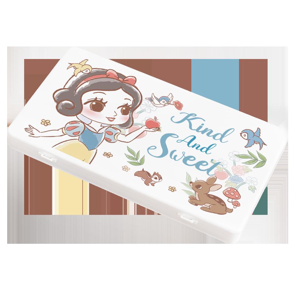 【收納王妃】迪士尼 (白雪)-Q版公主系列 防疫必備口罩盒/零錢盒/收納盒/文具盒