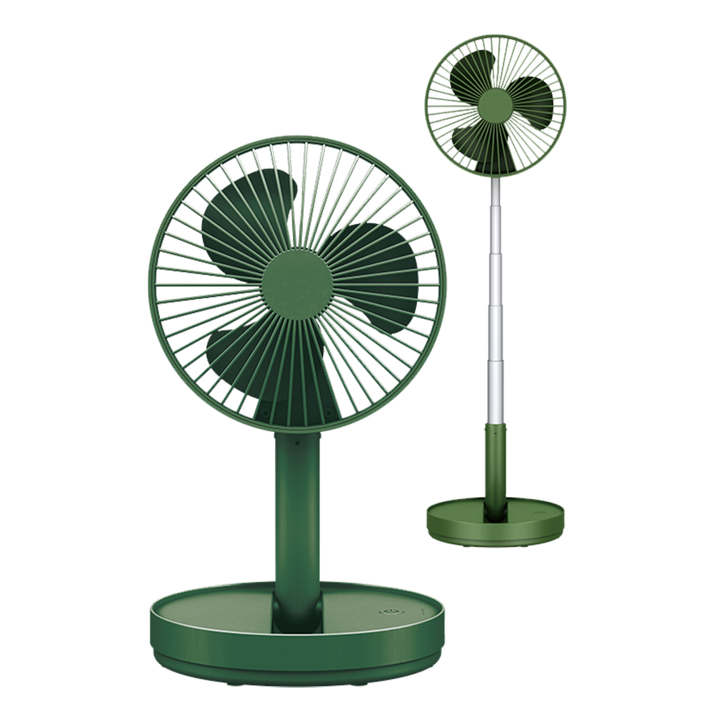 便攜摺疊伸縮風扇/立扇-墨綠色