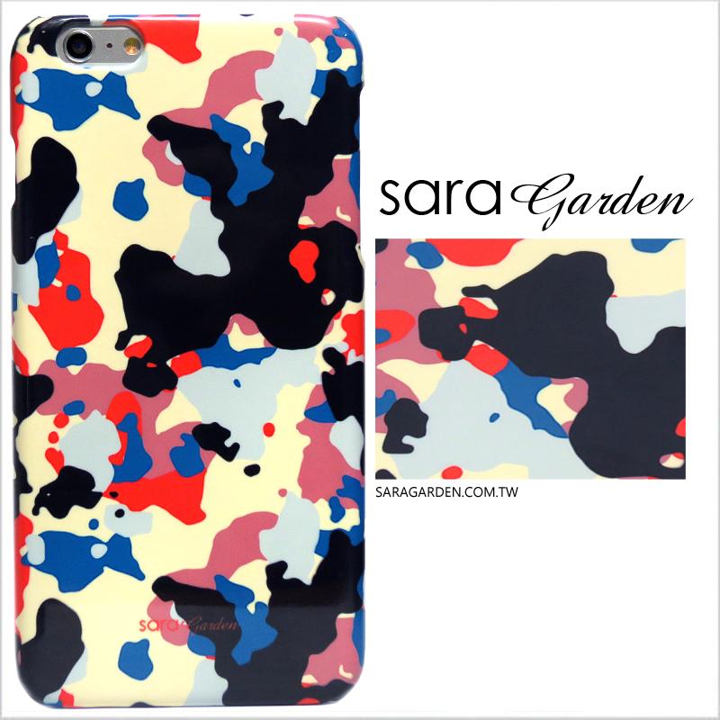【Sara Garden】客製化 手機殼 蘋果 iPhone 6plus 6SPlus i6+ i6s+ 潮流 撞色 迷彩 硬殼 限定