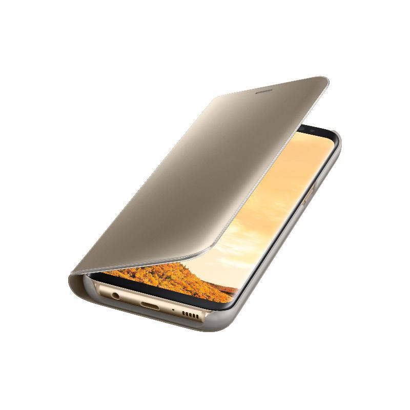 SAMSUNG Galaxy S8透視感應皮套(立架式) 金色