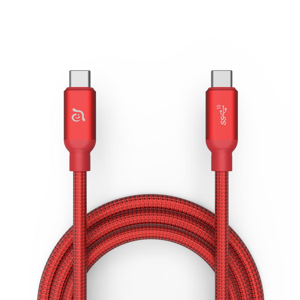 ADAM CASA USB3.1 USB-C 高速充電傳輸線 1M - 紅