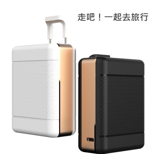 POLYBATT 三洋電芯 行李箱造型款 7900mAh 行動電源(可當手機支架) -黑金