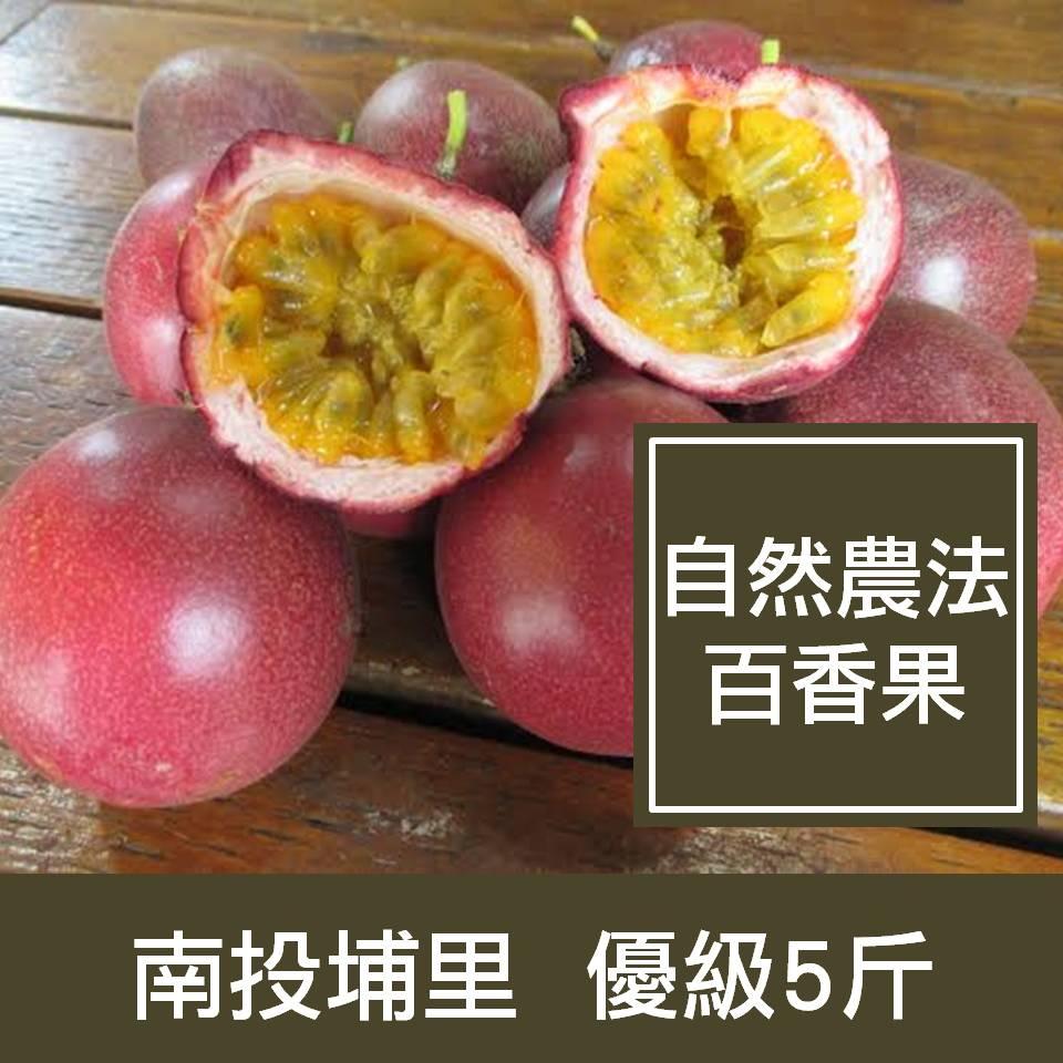 【一籃子】南投埔里【自然農法百香果】優級5斤
