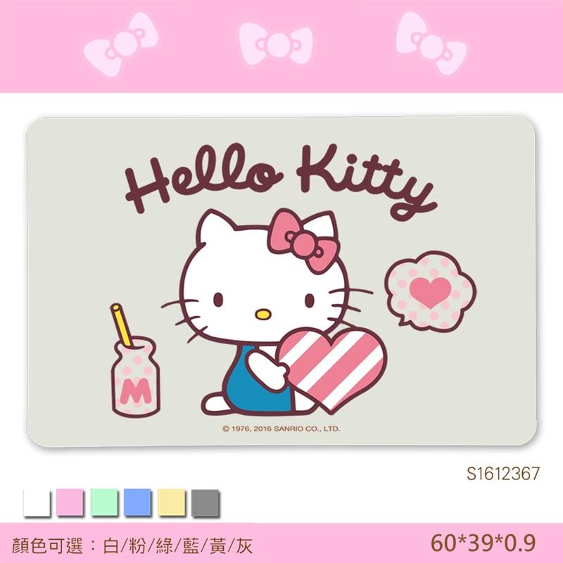 【三麗鷗獨家授權】Hello Kitty珪藻土吸水地墊//甜蜜早安-白