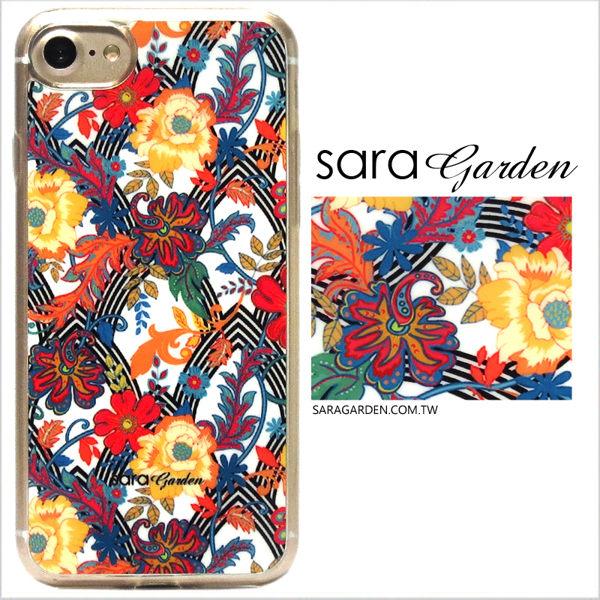 【Sara Garden】客製化 軟殼 蘋果 iPhone6 iphone6s i6 i6s 手機殼 保護套 全包邊 掛繩孔 質感碎花圖騰