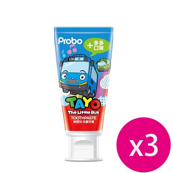 博寶兒 兒童牙膏 多多口味 TAYO 80g *3條