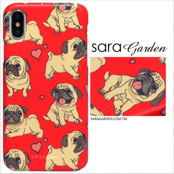 【Sara Garden】客製化 手機殼 蘋果 iphone7plus iphone8plus i7+ i8+ 手繪愛心巴哥 手工 保護殼 硬殼