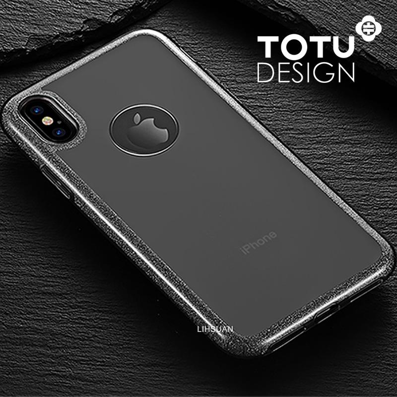 【TOTU台灣官方】iPhoneX 閃粉 手機殼 透黑