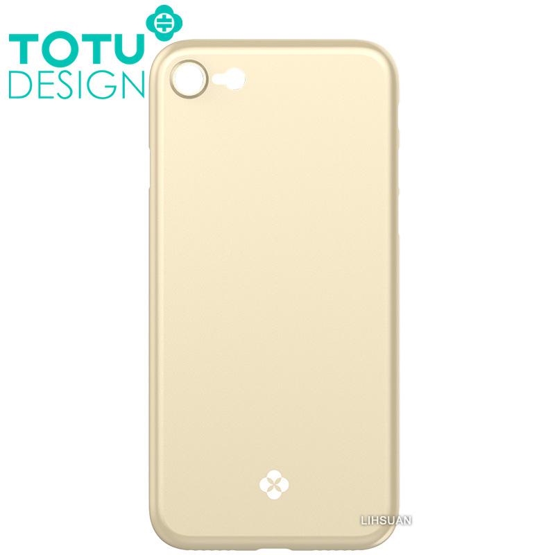 【TOTU台灣官方】iPhone8手機殼 晶瑩系列 金色