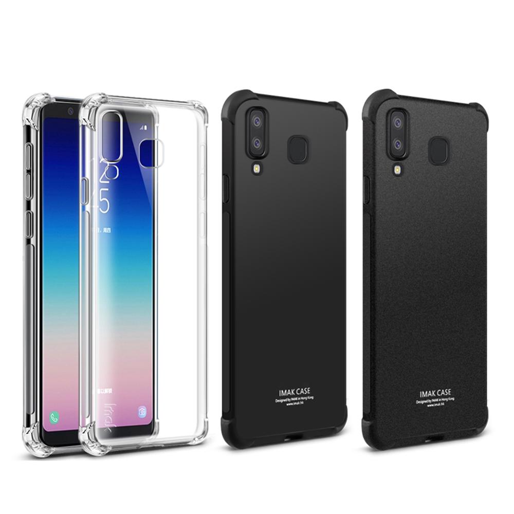 Imak SAMSUNG Galaxy A8 Star/A9 Star 全包防摔套(氣囊)(金屬黑)