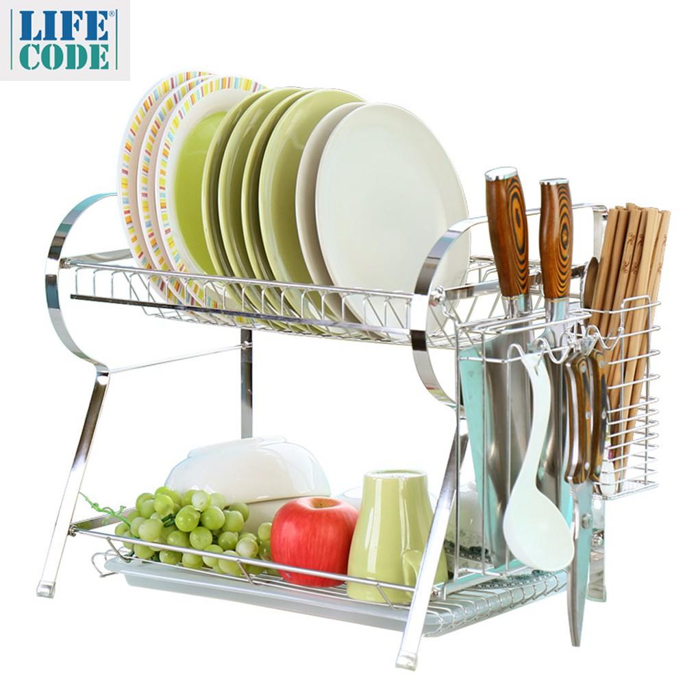 【LIFECODE】不鏽鋼碗筷刀具瀝水架