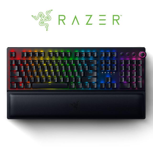 【RAZER 雷蛇】BLACKWIDOW V3 PRO 黑寡婦蜘幻彩版黃軸V3 Pro 電競鍵盤