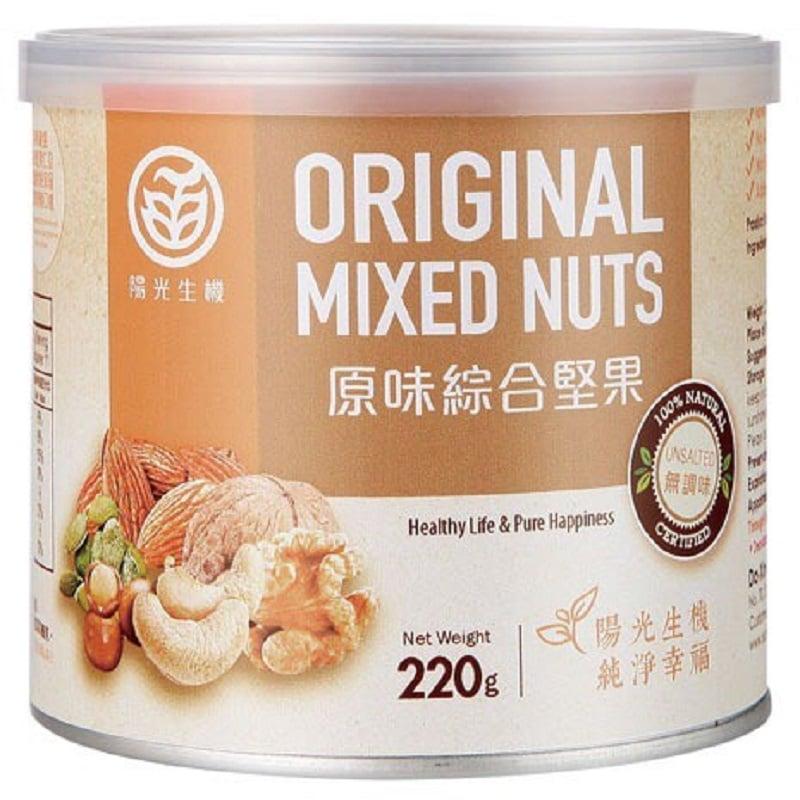 【陽光生機】原味綜合堅果(220g,共3罐)