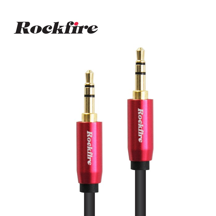 Rockfire鋁合金高級3.5mm立體聲音源線1m - 紅色