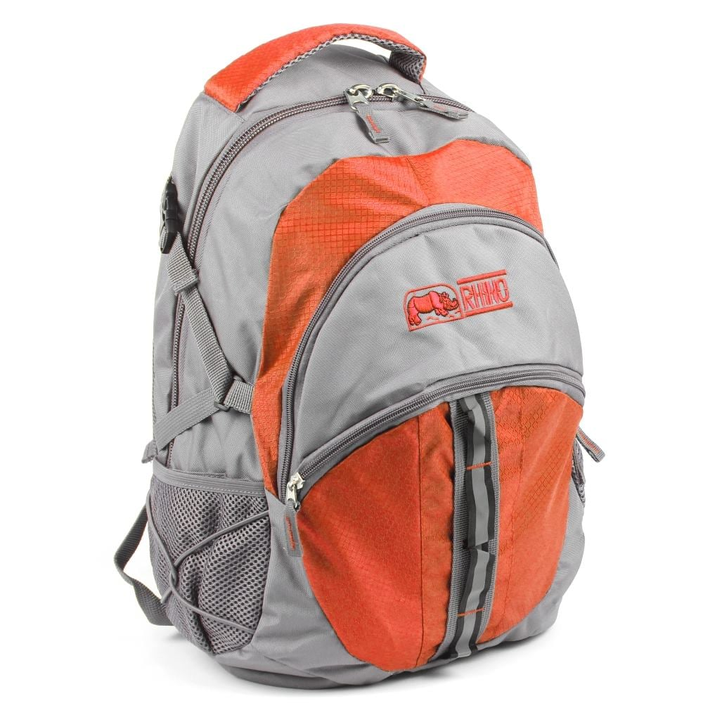 犀牛RHINO  School Plus 休閒電腦兩用背包(25公升)-橘