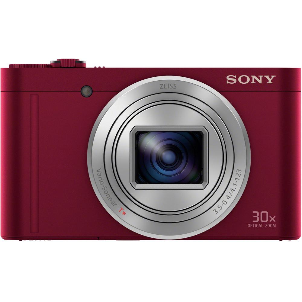 SONY WX500 高倍率旅遊自拍機(公司貨)_紅色-2019/2/17前送【SF-32UY3】原廠 32GB SD 記憶卡