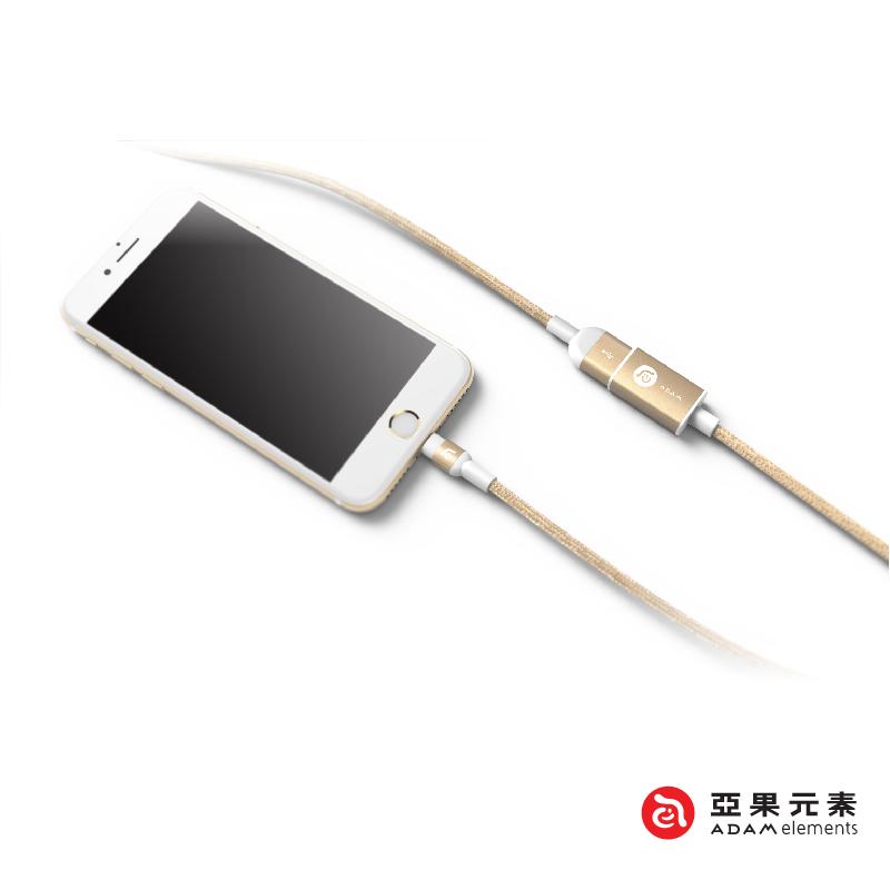 【亞果元素】PeAk AFM120 USB3.1 公對母轉接器/傳輸/充電線 120cm 金