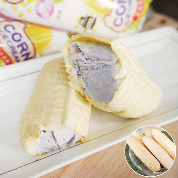 預購《老爸ㄟ廚房》古早味玉米冰淇淋 芋頭口味 (55g/支,共十支)