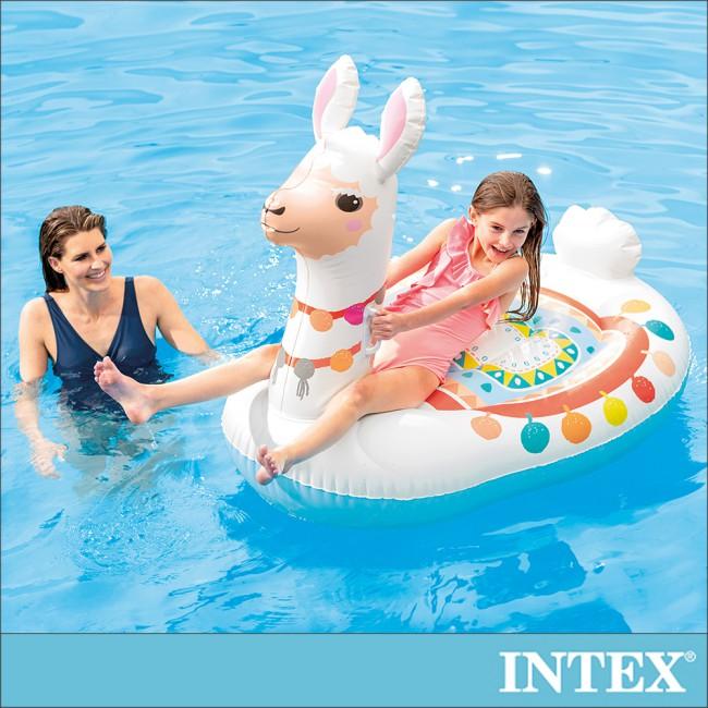 【INTEX】羊駝造型座騎/戲水二用 適用3歲+(57564)