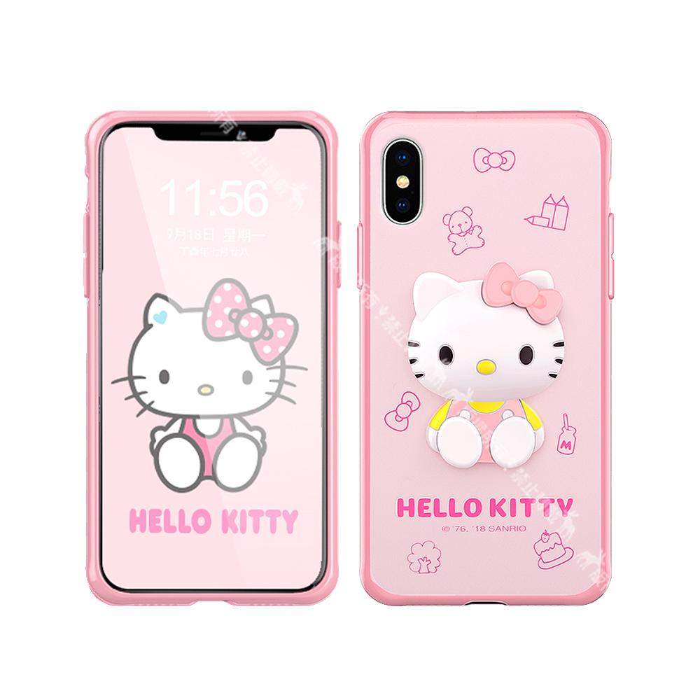 三麗鷗 Hello Kitty凱蒂貓 iPhone Xs Max 6.5吋 萌雙料3D立體手機殼(甜點)