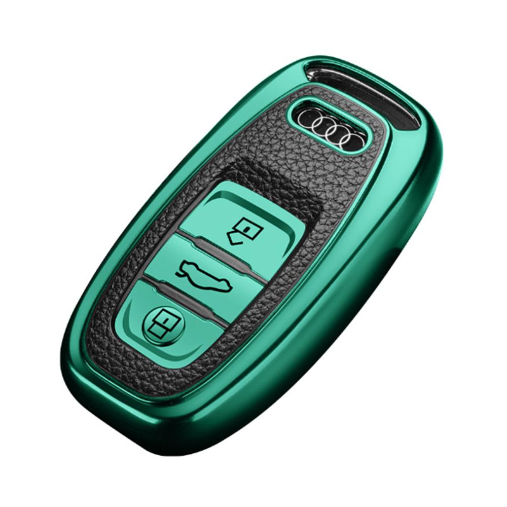 QinD Audi 奧迪車鑰匙保護套(A款)(祖母綠)