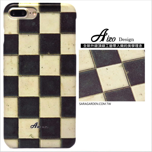 【AIZO】客製化 手機殼 蘋果 iphoneX iphone x 保護殼 硬殼 棋盤格磁磚