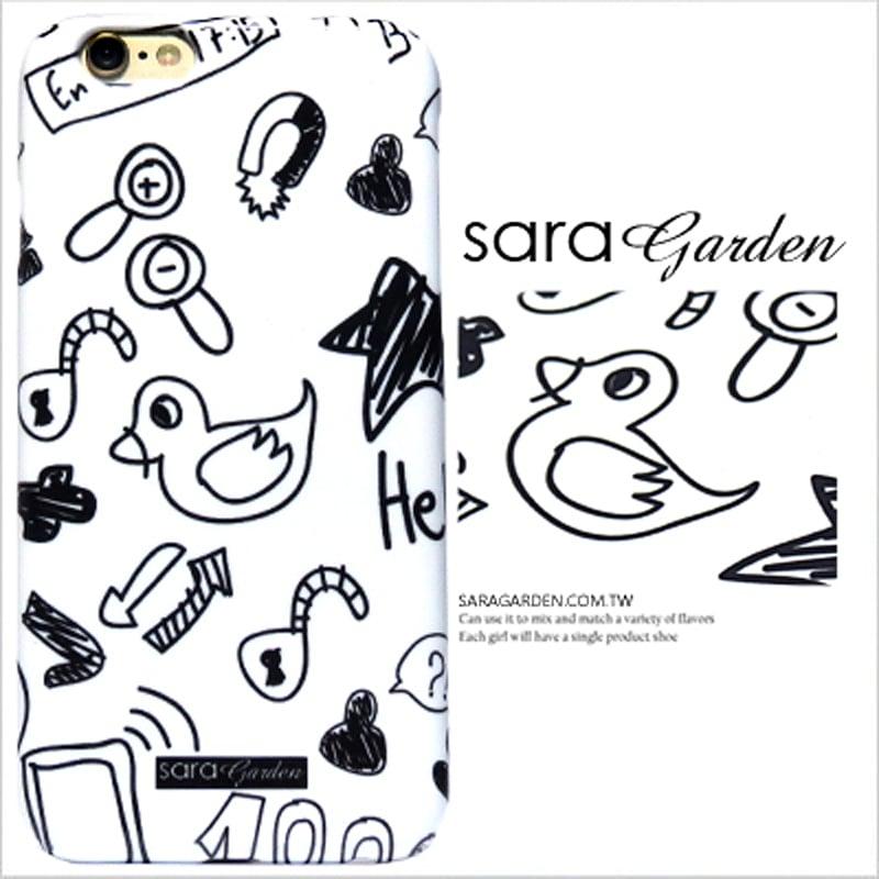 【Sara Garden】客製化 手機殼 HTC M7 塗鴉 插畫 麥克筆感 保護殼 硬殼