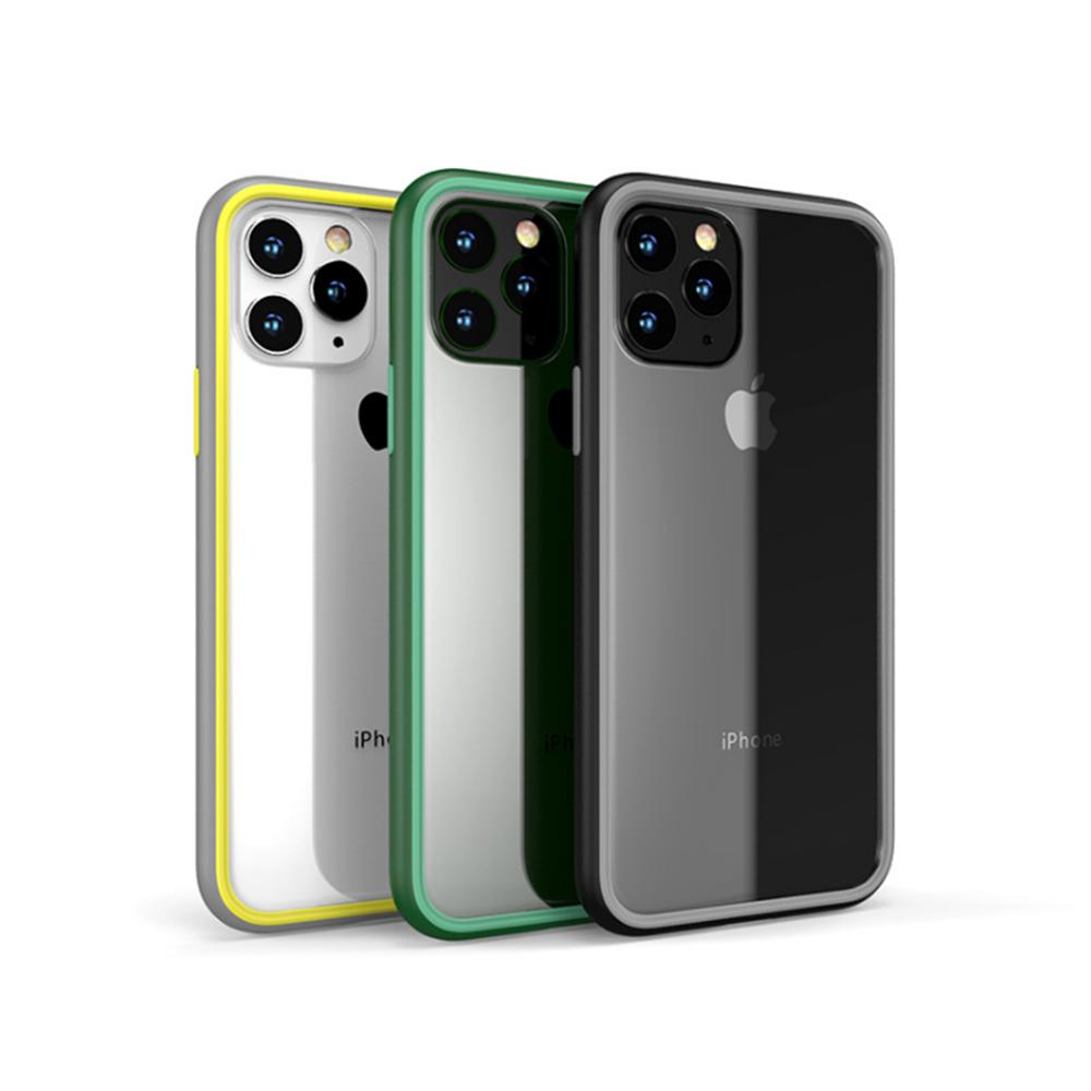 QinD Apple iPhone 11 Pro 5.8 撞色絢彩保護殼(灰黃)