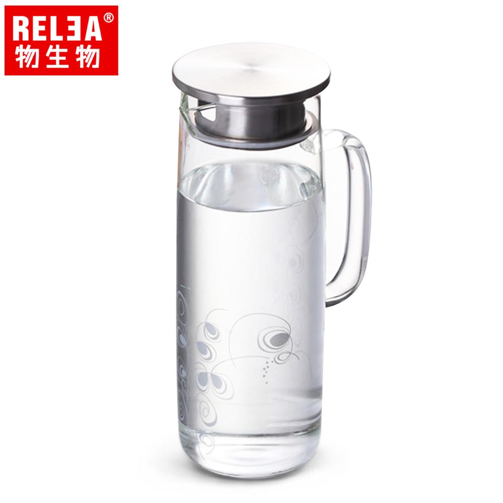 買1送1【香港RELEA物生物】1150ml北歐冷水壺(藤蔓款)