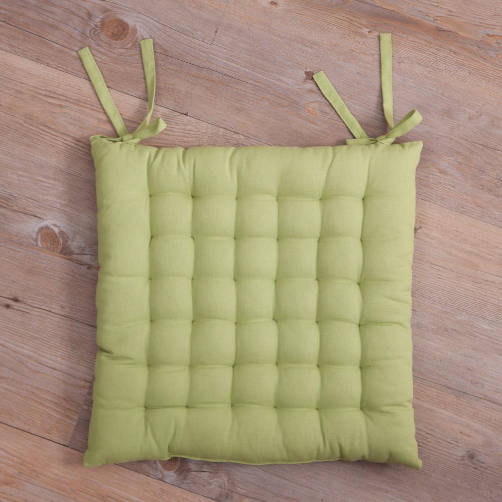 寧靜綠綁帶椅墊40x40-生活工場
