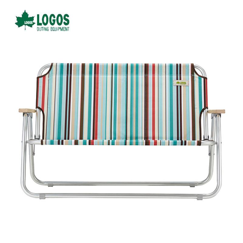 日本LOGOS 條紋雙人戀愛椅 情人椅 對對椅 露營椅 休閒椅 摺疊椅 No.73174030