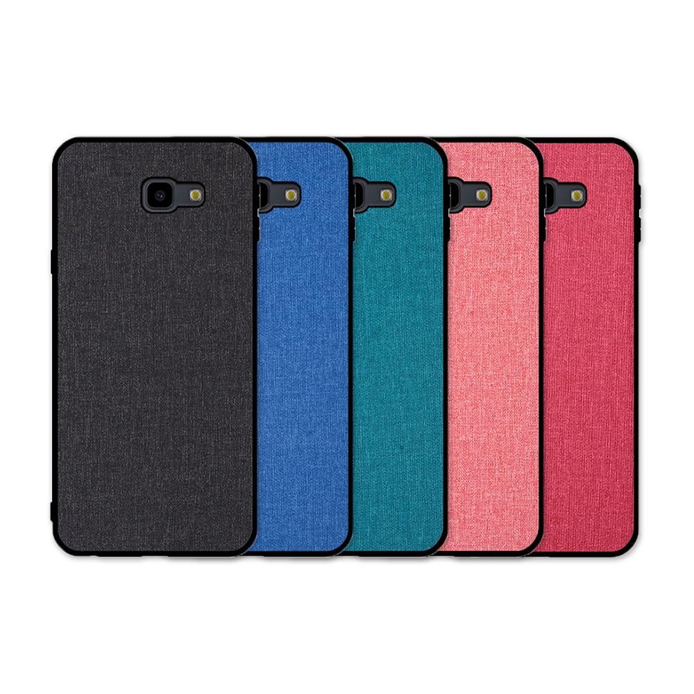 QinD SAMSUNG Galaxy J4+ 布藝保護套(櫻桃紅)