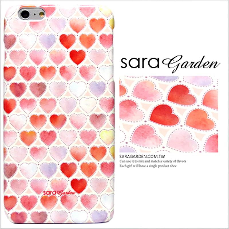 【Sara Garden】客製化 手機殼 蘋果 iPhone 6plus 6SPlus 暈染 水彩 漸層 愛心 保護殼 硬殼 限定