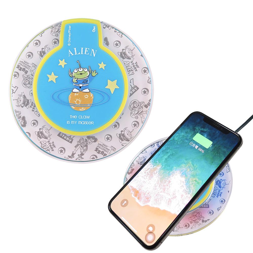 Disney迪士尼 三眼怪 透明水晶無線充電座/充電板