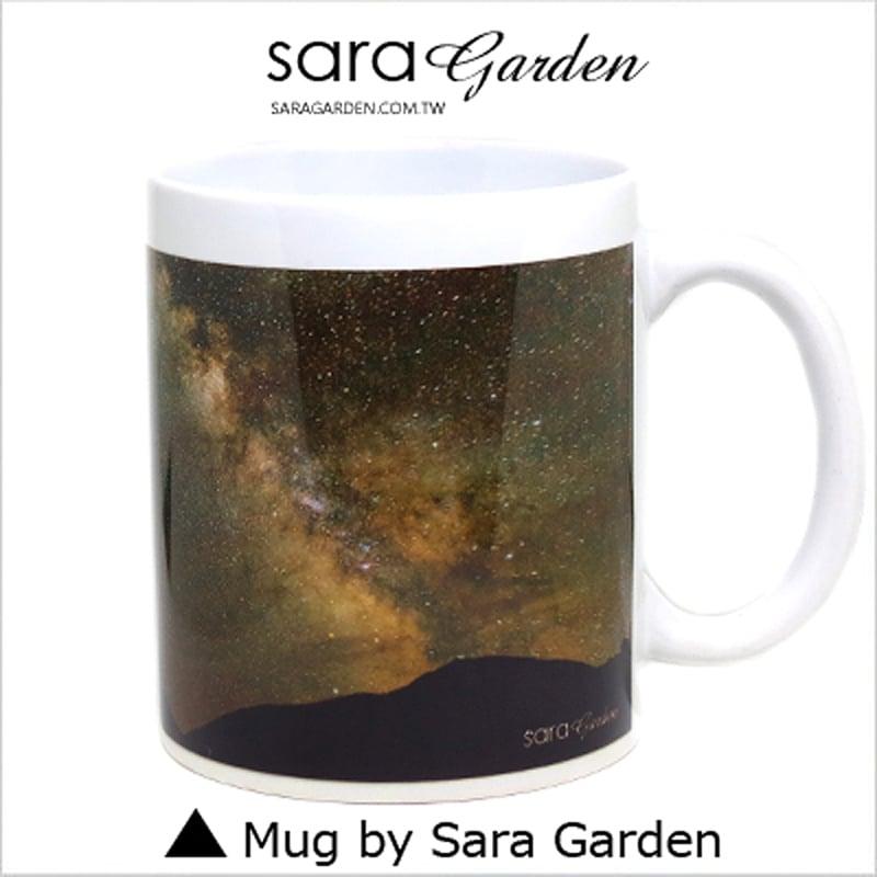 【Sara Garden】客製 手作 彩繪 馬克杯 Mug 銀河 星星 宇宙 剪影 咖啡杯 陶瓷杯 杯子 杯具 牛奶杯 茶杯