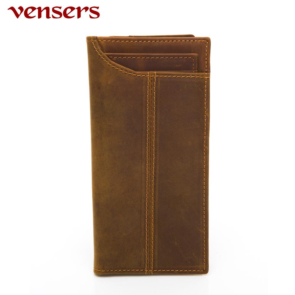 【vensers】小牛皮潮流個性皮夾~(NB831301瘋馬皮長夾)
