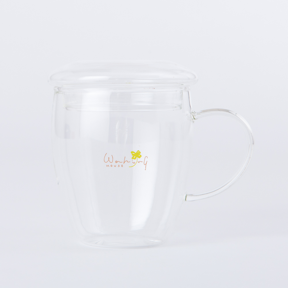 Clover樂活玻璃附蓋馬克杯300ml-生活工場