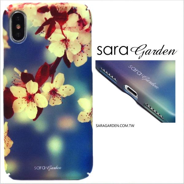【Sara Garden】客製化 全包覆 硬殼 蘋果 iphoneX iphone x 手機殼 保護殼 濾鏡櫻花碎花