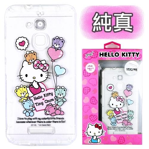 【Hello Kitty】ASUS ZenFone 3 Max 5.2吋 ZC520TL 彩繪空壓手機殼(純真)