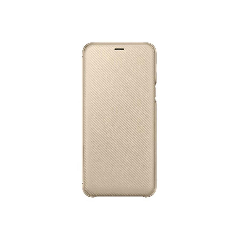 SAMSUNG Galaxy A6+翻頁式皮套 金色