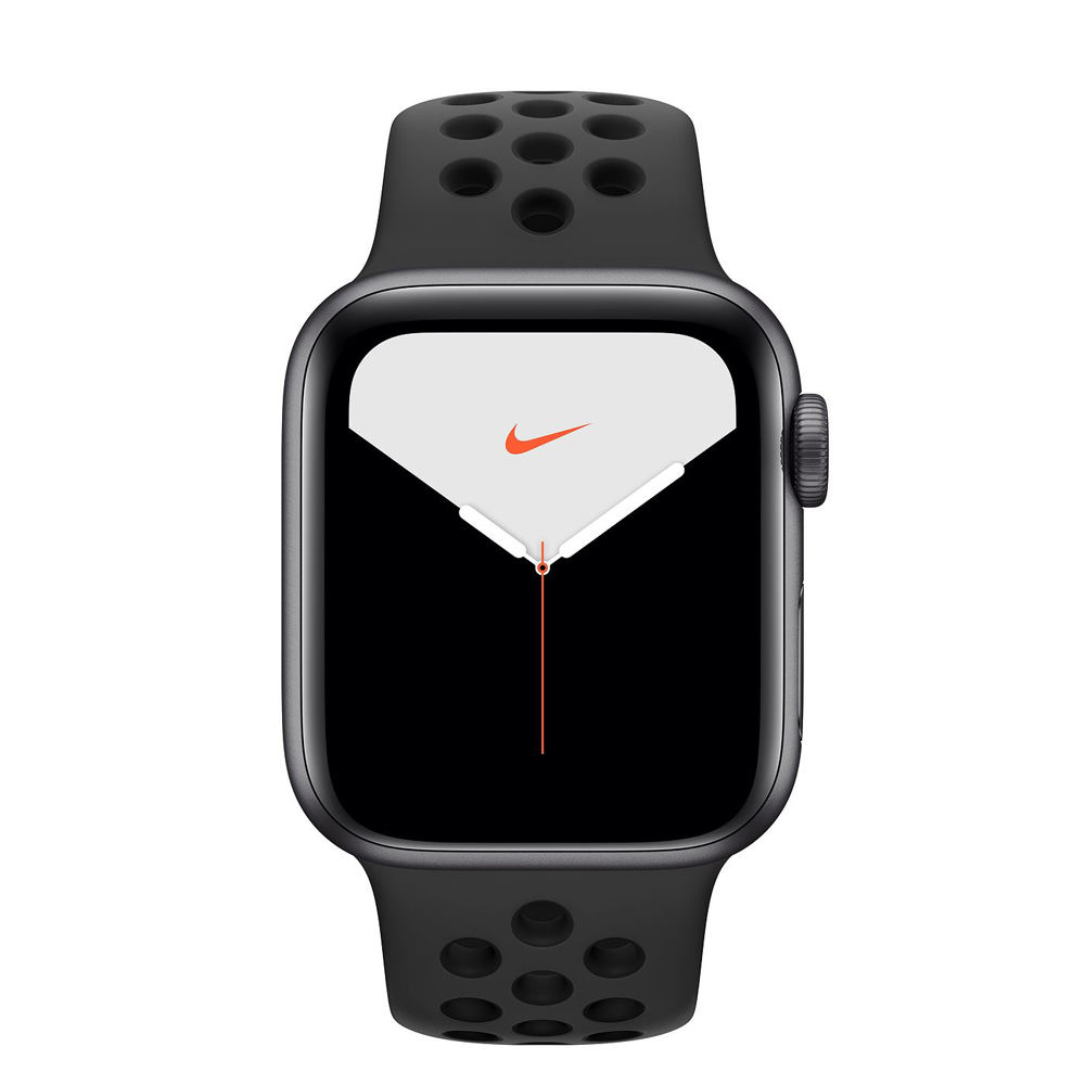 Apple Watch S5 Nike LTE版 40mm太空灰鋁錶殼黑色運動錶帶MX3D2TA/A