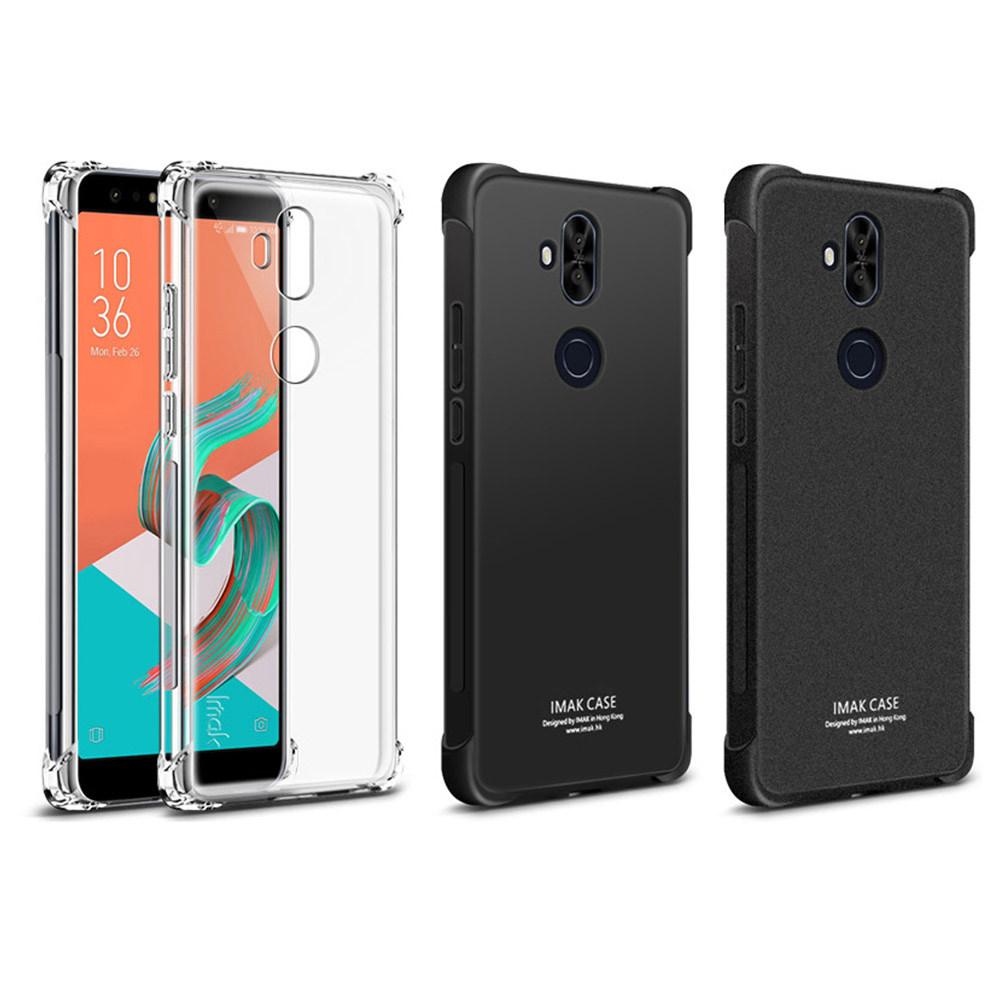 Imak ASUS ZenFone 5Q/5Lite ZC600KL 全包防摔套(氣囊)(磨砂黑)