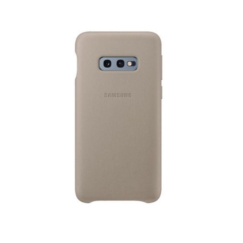 SAMSUNG Galaxy S10e皮革背蓋 灰
