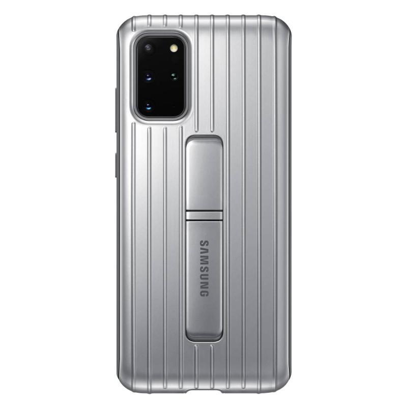 SAMSUNG Galaxy S20+ 5G立架式保護皮套 銀